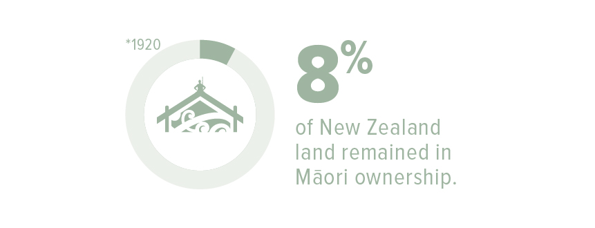 In 1920, only 8% of New Zealand land remained in Māori ownership.